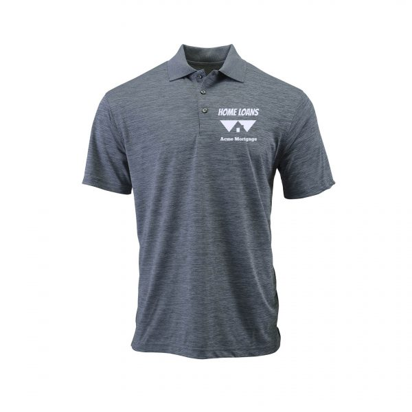 Home Loans Polo Shirt For Men - Steel Gray Heather