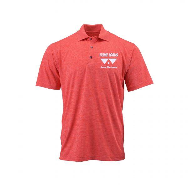 Home Loans Polo Shirt For Men - Melon Heather