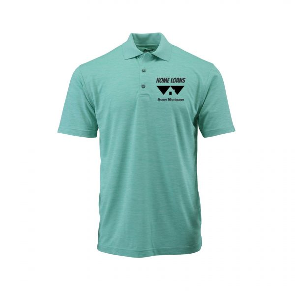 Home Loans Polo Shirt For Men - Surf Green Heather