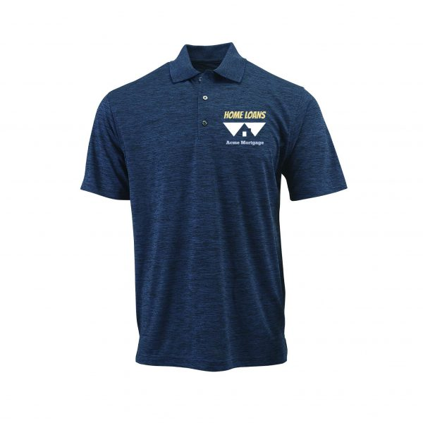 Home Loans Polo Shirt For Men - Deep Blue Heather