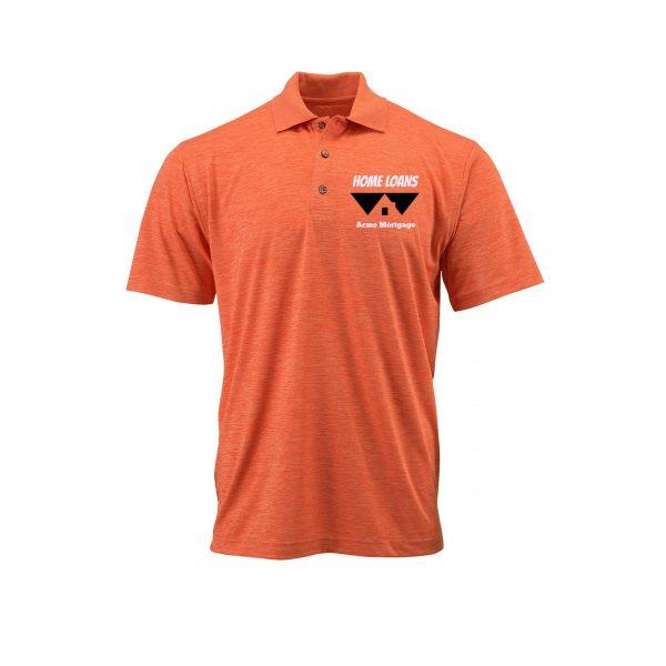 Home Loans Polo Shirt For Men - Tangerine Heather