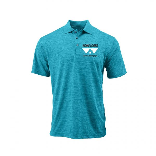 Home Loans Polo Shirt For Men - Turquoise Heather