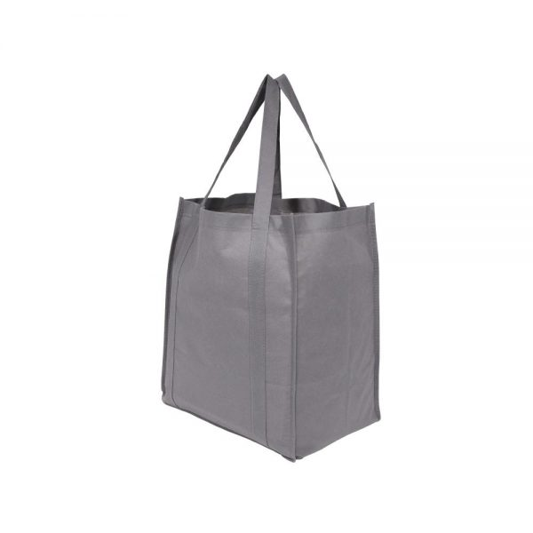 Custom Eco Friendly Shopping Bag Gray Side