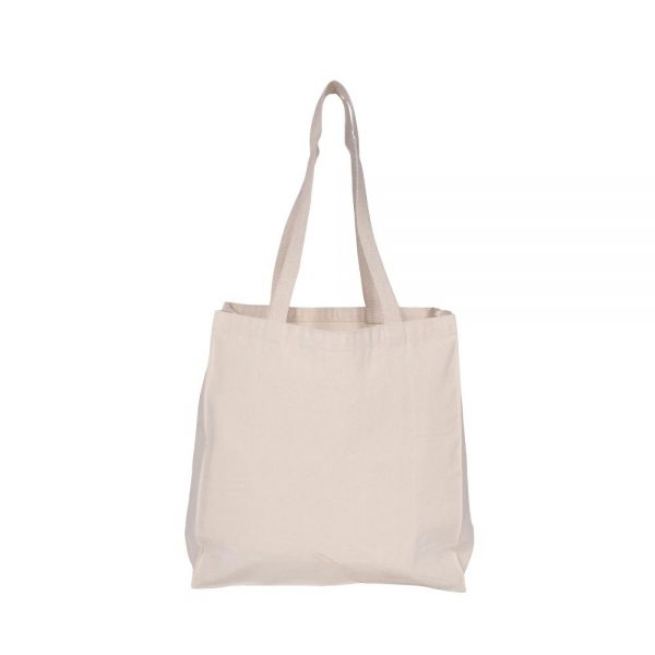 Custom Recycled Canvas Tote Bag Back