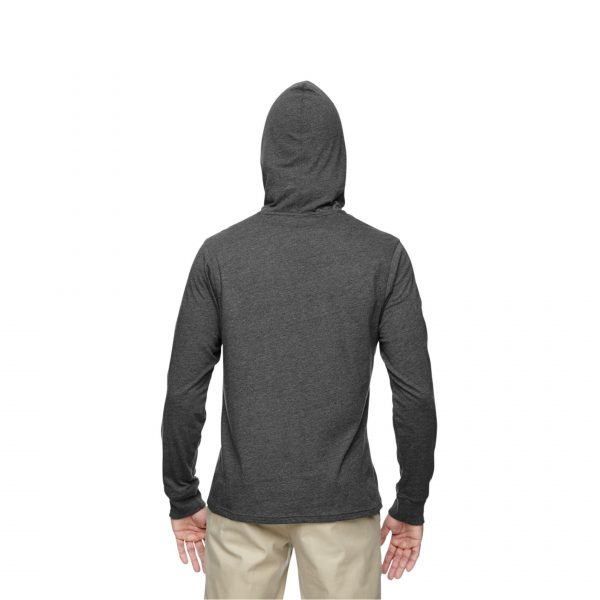 Eco-Friendly Pullover Hoodie Charcoal/Black Back