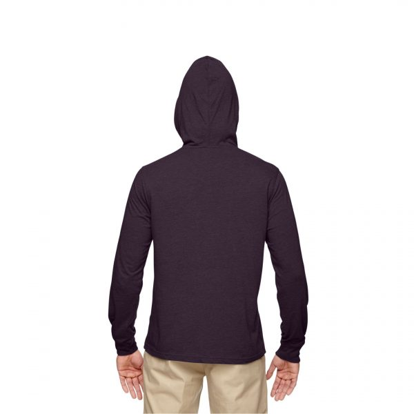 Eco-Friendly Pullover Hoodie Eggplant Back