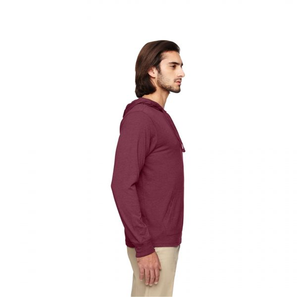 Eco-Friendly Pullover Hoodie Berry Side