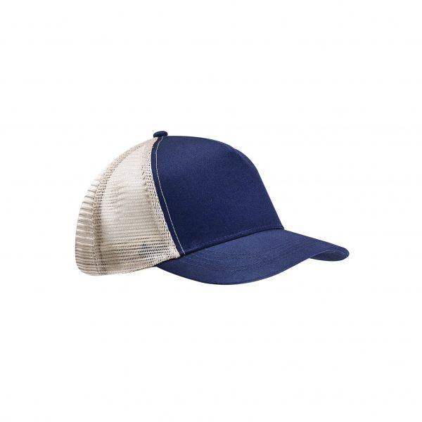 Eco-Friendly Semi-Curve Hat Navy Blue