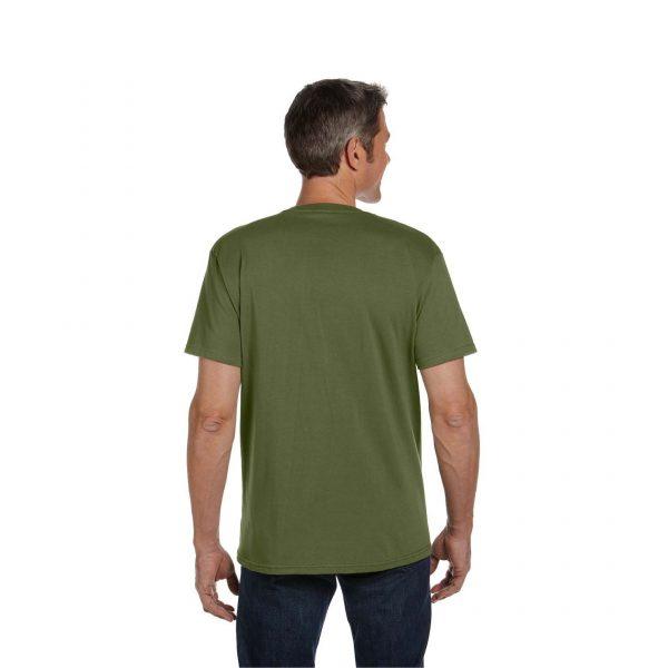 Eco-Friendly Short Sleeve Olive Back
