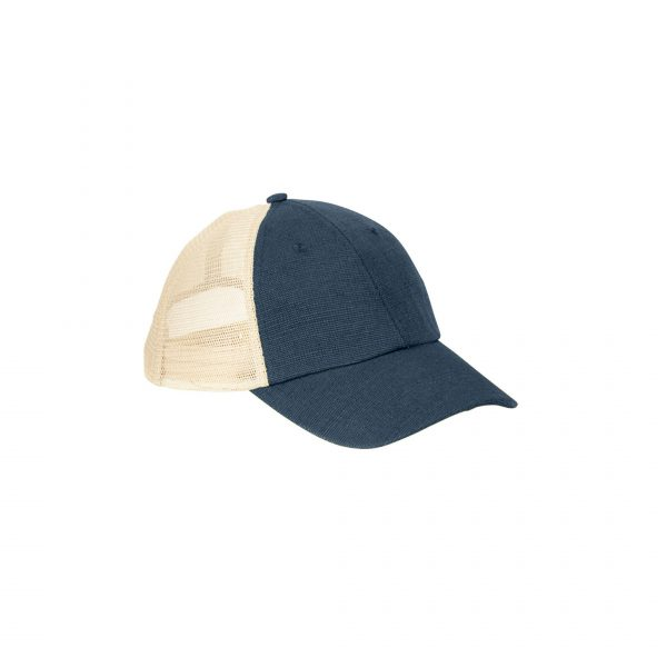 Eco-Friendly Soft Trucker Hat Navy Blue Oyster