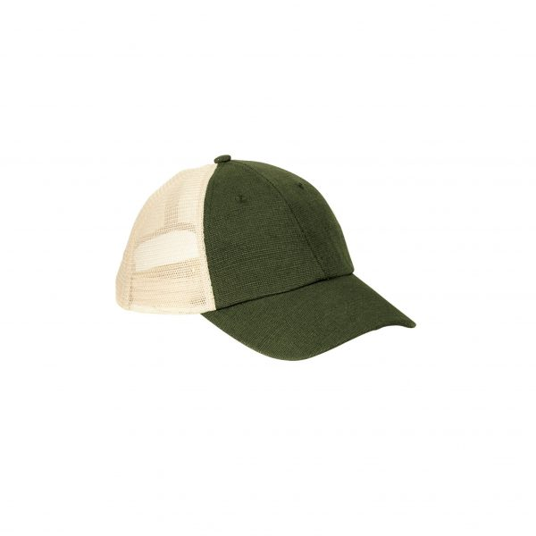 Eco-Friendly Soft Trucker Hat Olive Oyster