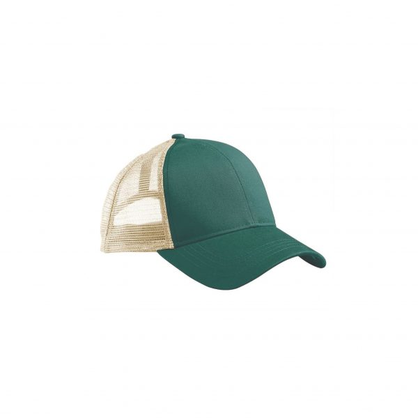 Eco-Friendly Trucker Hat Emerald Forest Green/Oyster