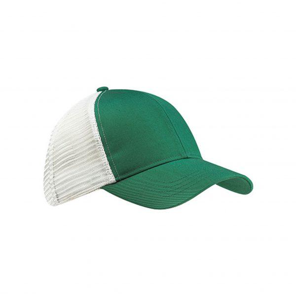 Eco-Friendly Trucker Hat Green/White