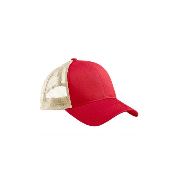Eco-Friendly Trucker Hat Red/Oyster