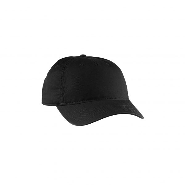 Eco-Friendly Twill 5-Panel Unstructured Hat Black