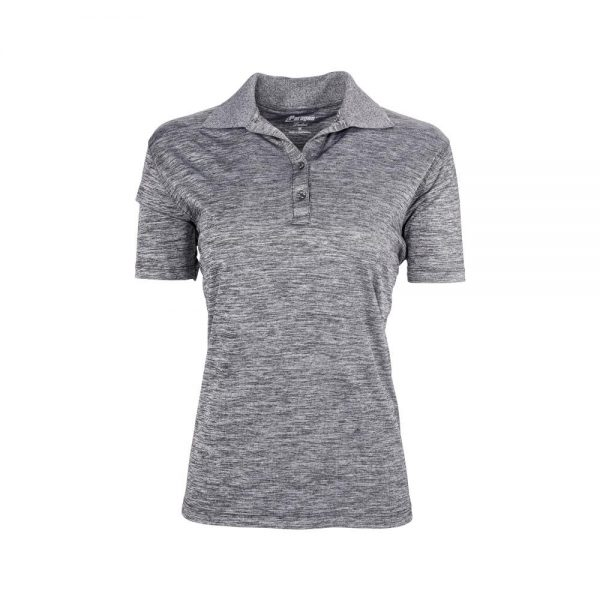 Eco Friendly Womens Polo Gray Front