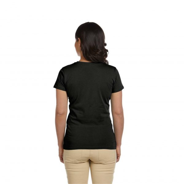 Eco-Friendly Women's T-Shirt Black Back