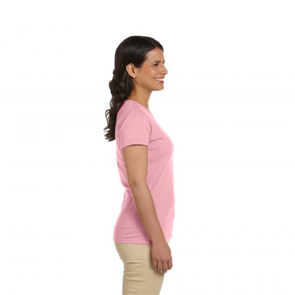 Eco-Friendly Women's T-Shirt Pink Side
