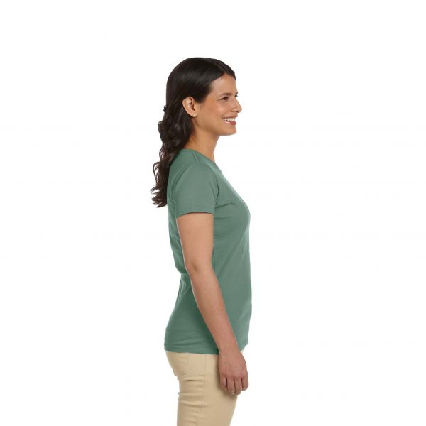 Eco-Friendly Women's T-Shirt Sage Side