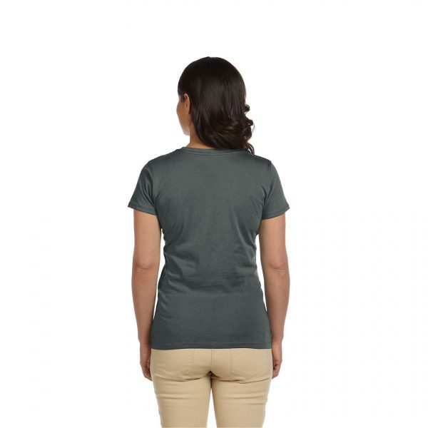 Eco-Friendly Women's T-Shirt Gray Back
