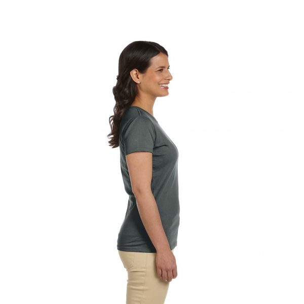 Eco-Friendly Women's T-Shirt Gray Side