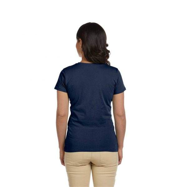 Eco-Friendly Women's T-Shirt Navy Blue Back