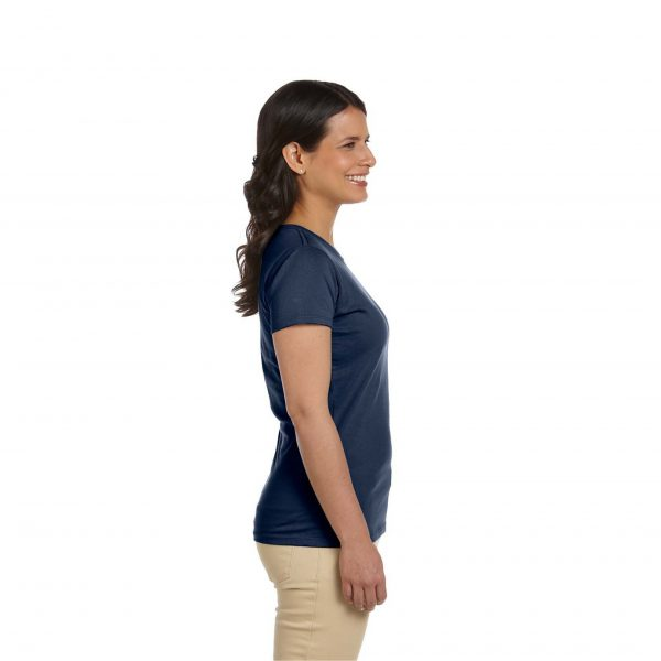 Eco-Friendly Women's T-Shirt Navy Blue Side