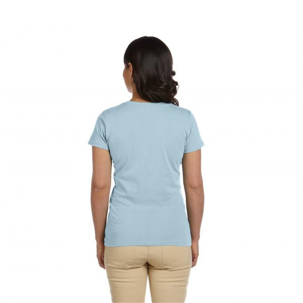Eco-Friendly Women's T-Shirt Light Blue Back