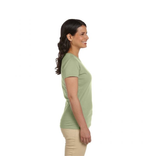Eco-Friendly Women's T-Shirt Green Side