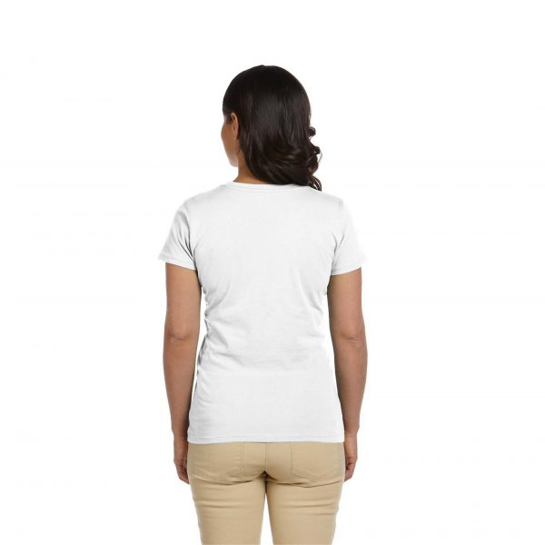 Eco-Friendly Women's T-Shirt White Back