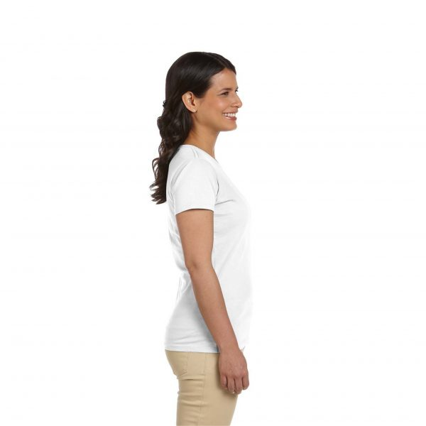 Eco-Friendly Women's T-Shirt White Side