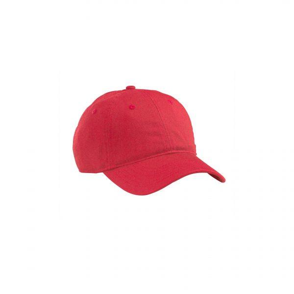 Organic Cotton Baseball Hat Red