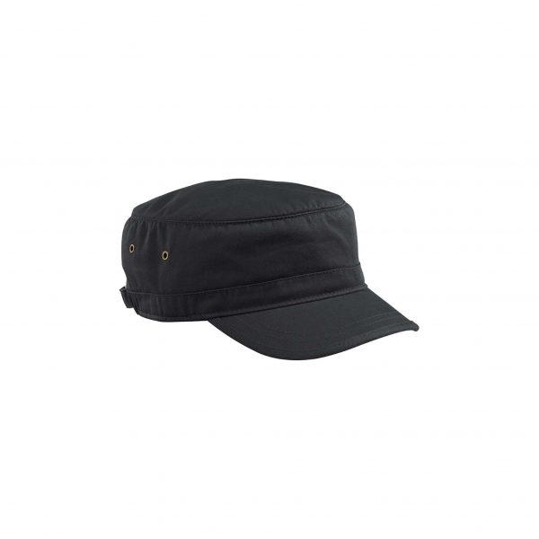 Organic Cotton Twill Corps Hat Black