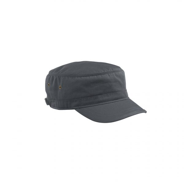 Organic Cotton Twill Corps Hat Charcoal