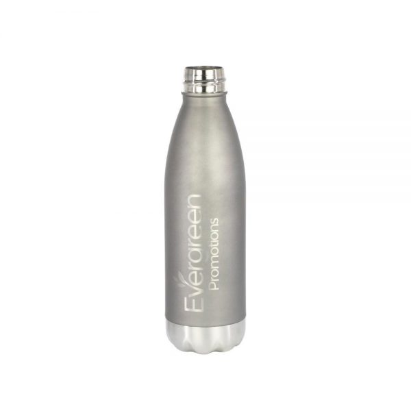 Personalized Stainless Steel Water Bottle Silver Logo