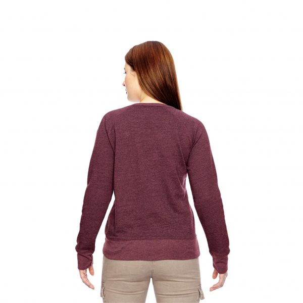 Recycled Fleece Pullover Berry Back