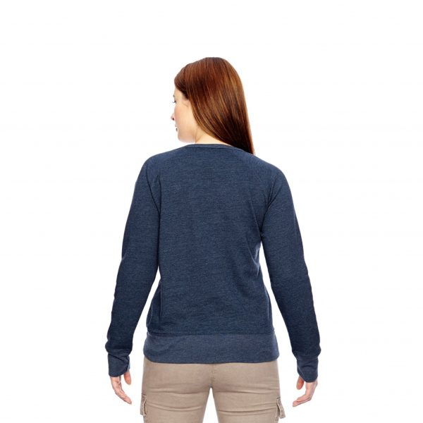 Recycled Fleece Pullover Navy Back