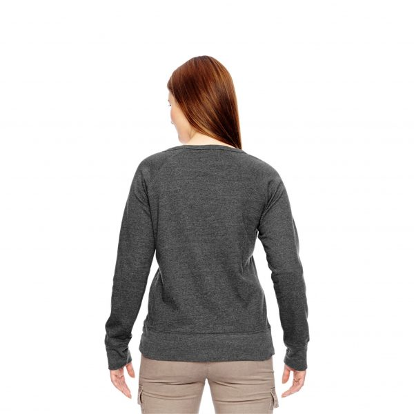 Recycled Fleece Pullover Charcoal Back