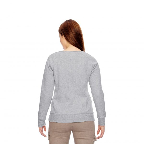 Recycled Fleece Pullover Gray Back