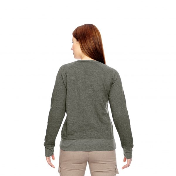 Recycled Fleece Pullover Green Back