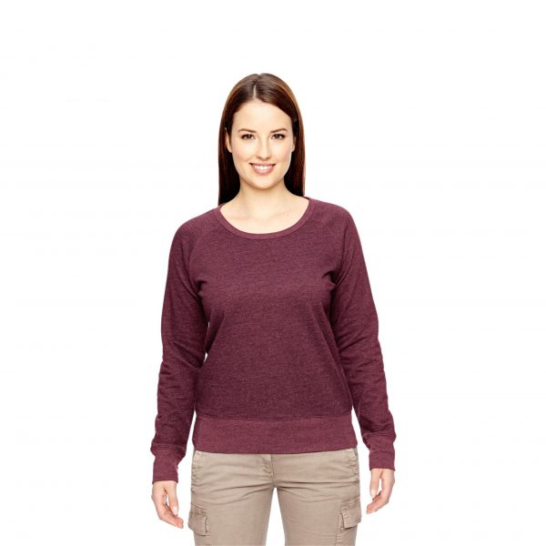 Recycled Fleece Pullover Berry