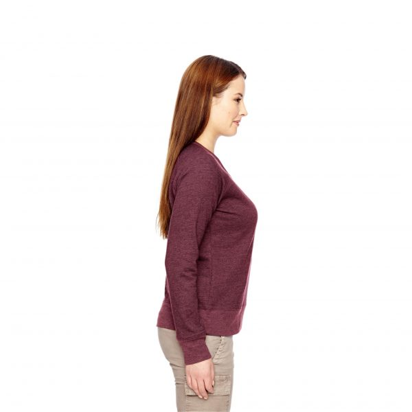 Recycled Fleece Pullover Berry Side