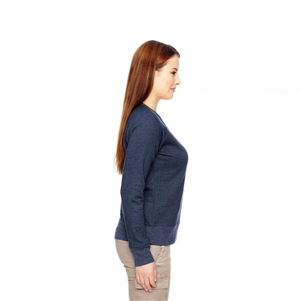 Recycled Fleece Pullover Navy Side