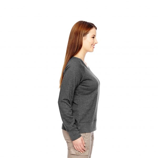 Recycled Fleece Pullover Charcoal Side