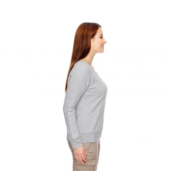 Recycled Fleece Pullover Gray Side