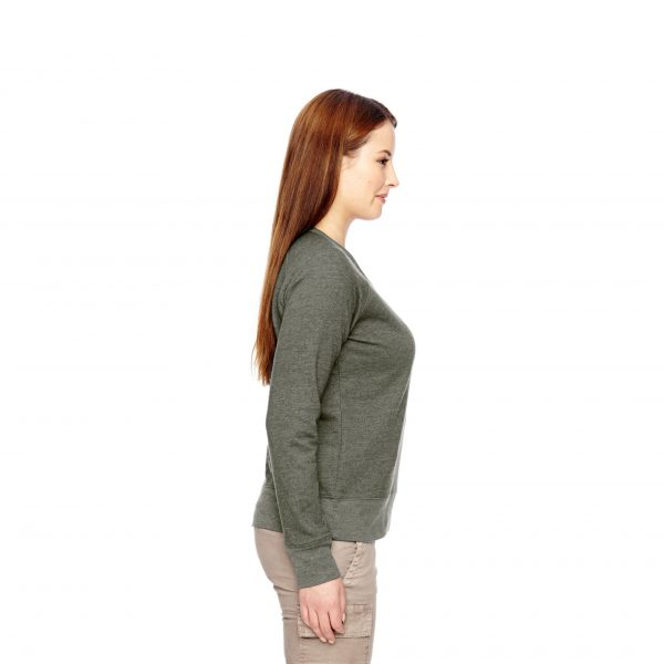 Recycled Fleece Pullover Green Side